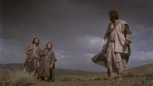 Two disciples encounter Jesus on the way to Emmaus.