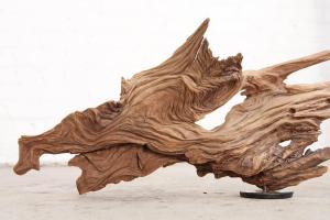 A sculpture made from driftwood.