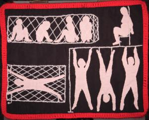 Abstract images of torture methods in Pinochet's Chile.