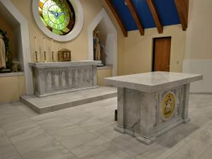 The eucharistic table.