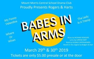 "A program cover for the musical ""Babes in Arms."""