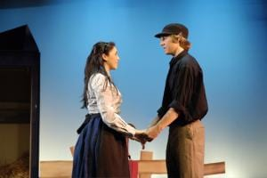 Hodel and Perchik discuss Matrimony in Fiddler on the Roof.
