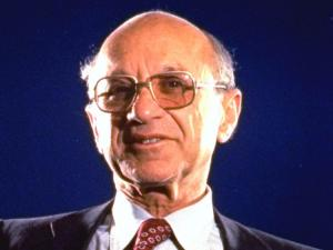 A foto of Milton Friedman.