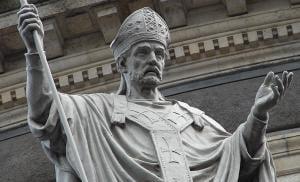 Statue of St. John Chrysostom.