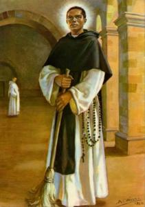 Martin de Porres pictured with a broom.