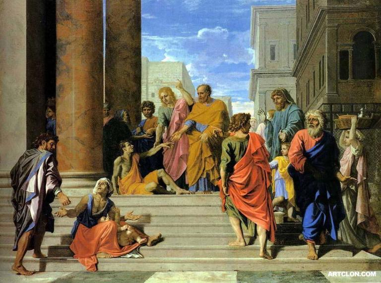 1655, Sants Peter and John Healing the Lame Man, Poussin