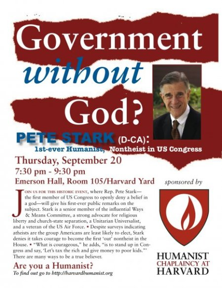 Pete Stark (D-CA) to Give First-Ever Public Remarks About His Non-Belief