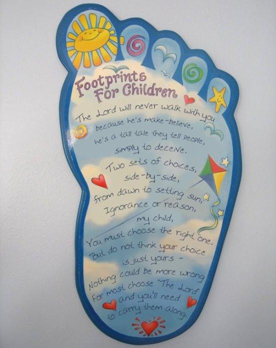 Footprints for Children… the Atheist Version | Guest