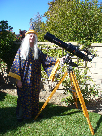 Wizard and telescope