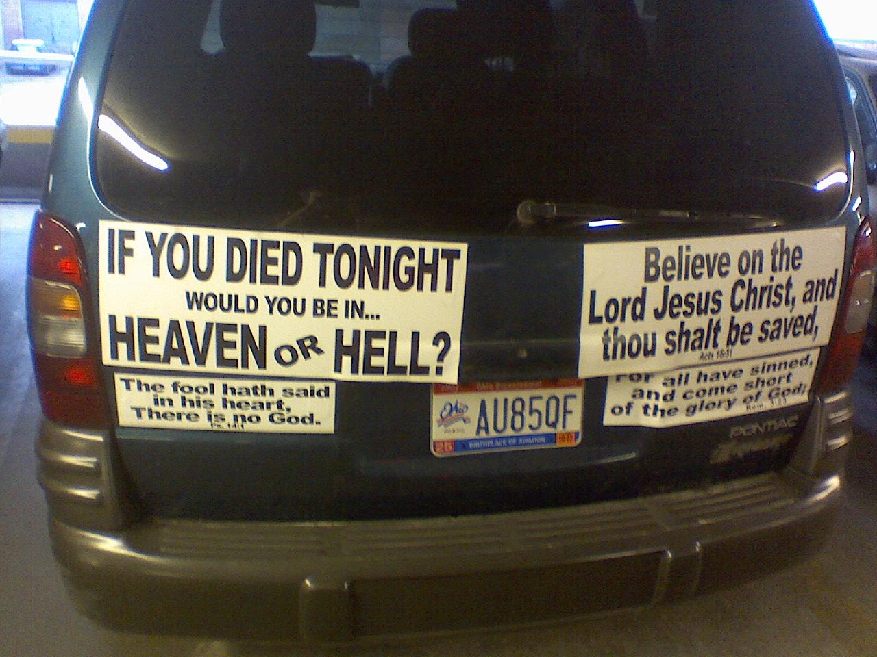Whats it like to have an atheist car