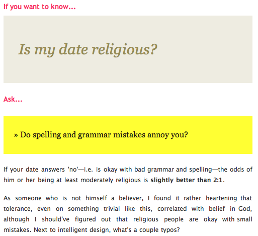 How Can You Find Out if Your Date is Religious? | Guest
