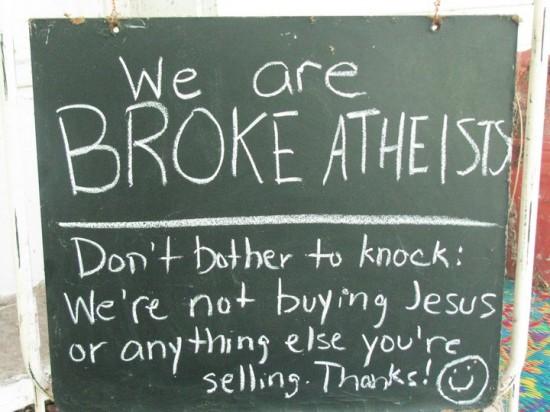 We're Not Buying Jesus…
