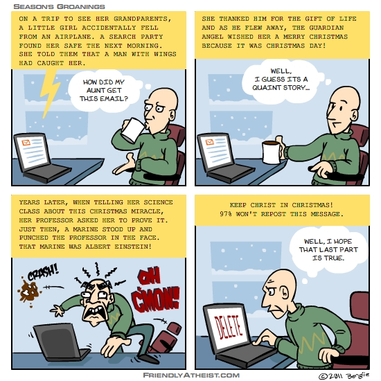 A Wednesday Webcomic about holiday chainmail