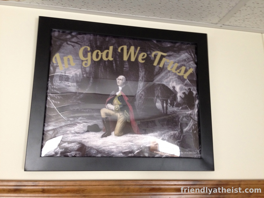 In Missouri, an 'In God We Trust' Sign Goes Up and an Atheist Runs for City Council