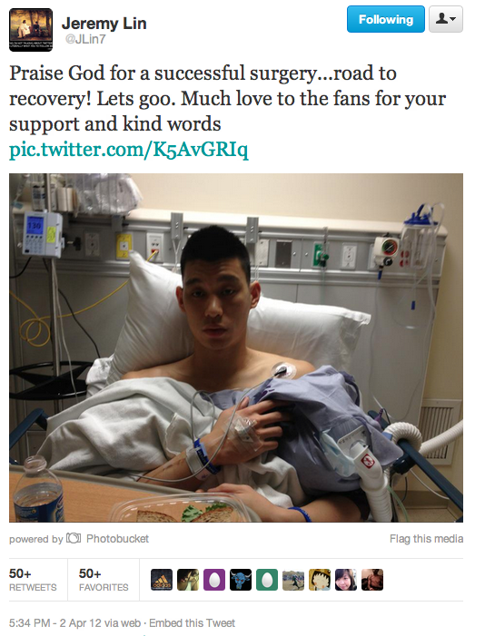 Jeremy Lin Thanks God… Then Comes to His Senses