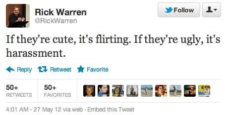 A 'Joke' from Rick Warren
