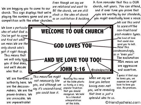 nakedpastor: Deconstructing a Church Sign