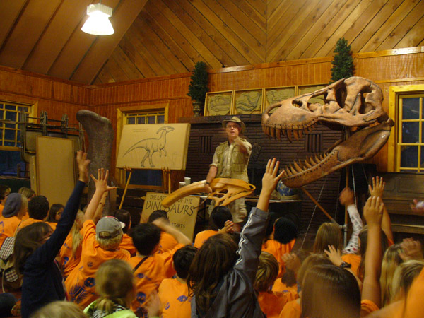Dino show at Camp Quest