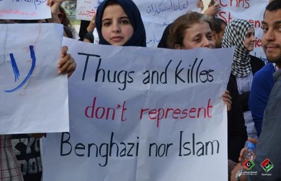 Brave Libyans Attack Compound of Muslim Radicals Over Death of American Ambassador