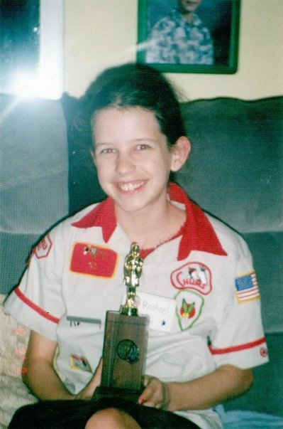 Rachael receives an award from Awana for being the most 'godly' student. She would later complete the Awana course, memorizing over 800 Bible verses along the way.