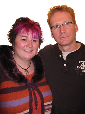 John Martens with his wife