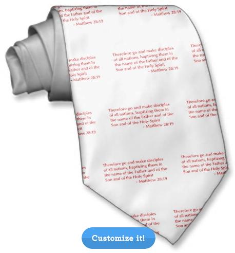 A tie with Bible verses (via Zazzle)
