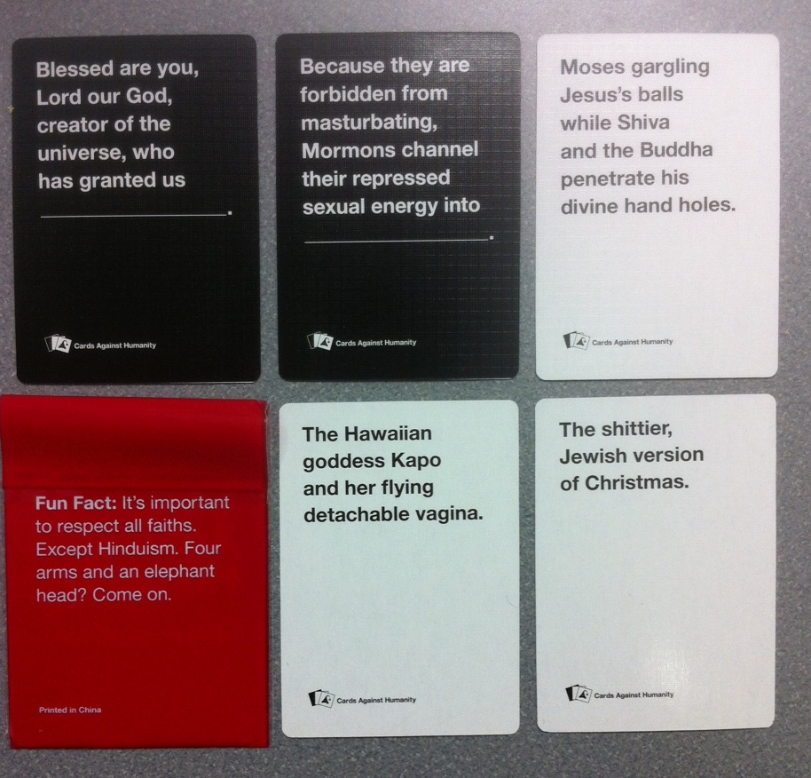 The Most Blasphemous Cards Against Humanity Cards Yet | Hemant Mehta ...