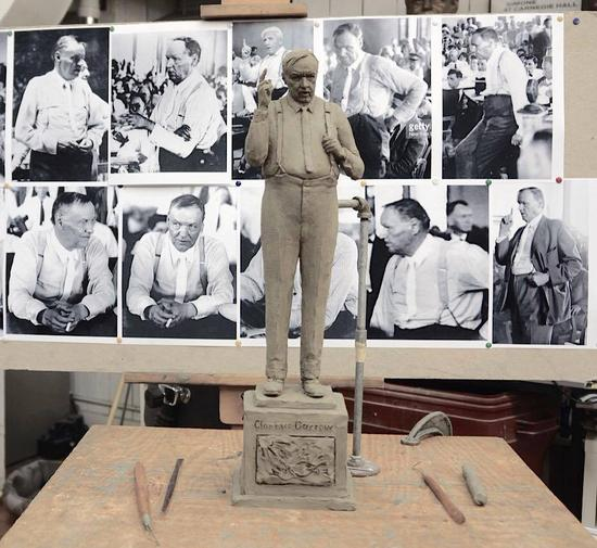 A model of what the final Clarence Darrow statue would look like (via Zenos Frudakis)