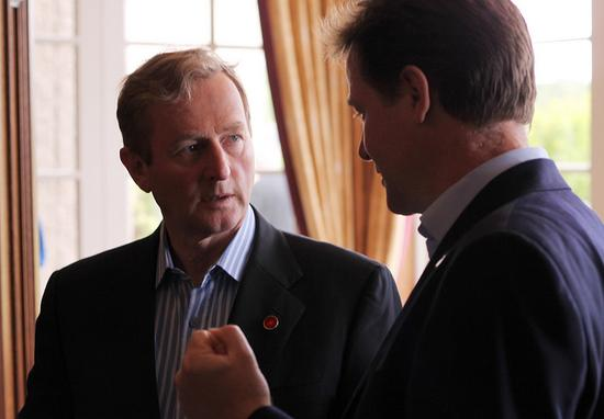 Taoiseach Enda Kenny (left) with British Deputy Prime Minister Nick Clegg