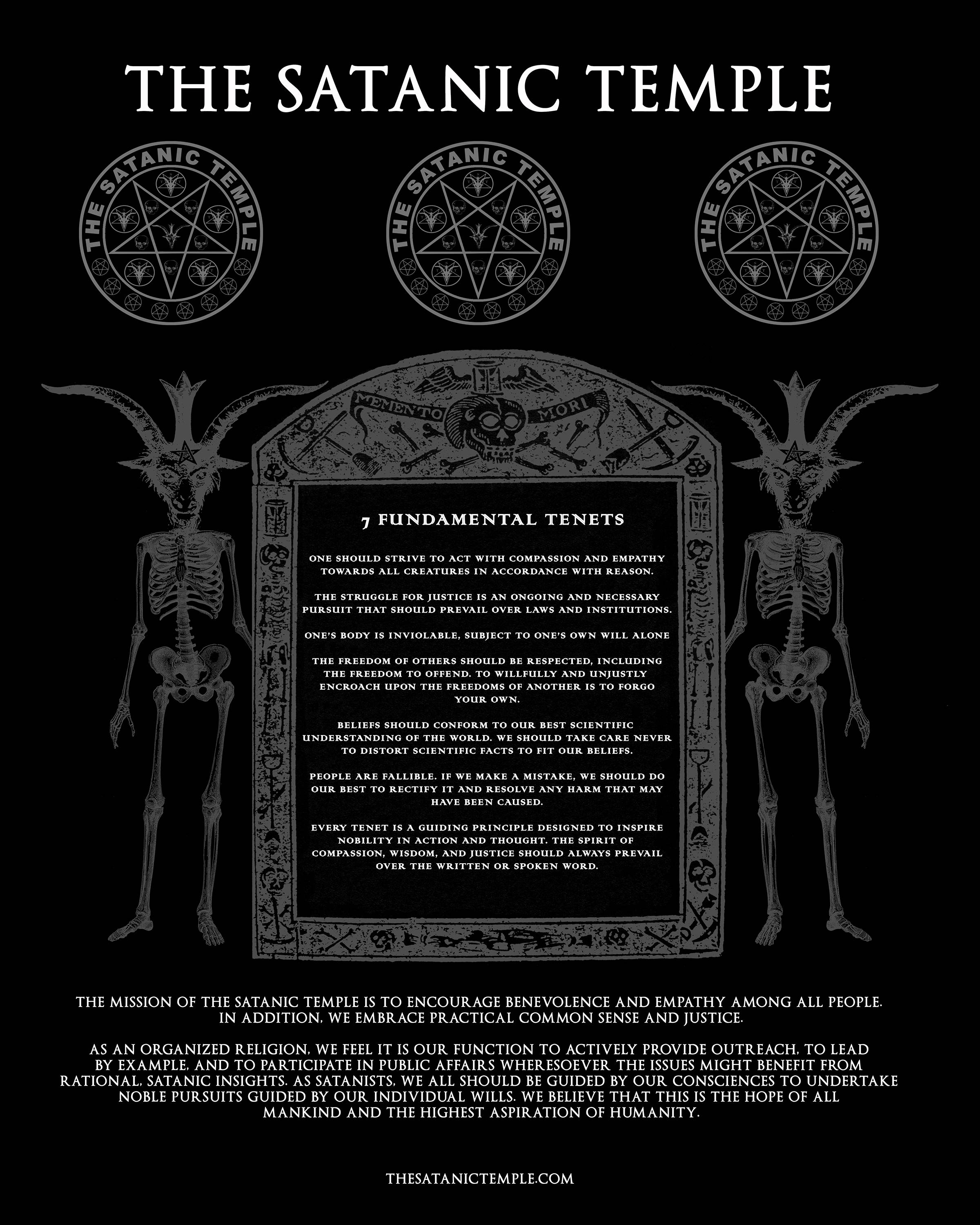 The Satanic Temple S Seven Tenets Are Far More Ethical Than The Ten Commandments Hemant Mehta Friendly Atheist Patheos