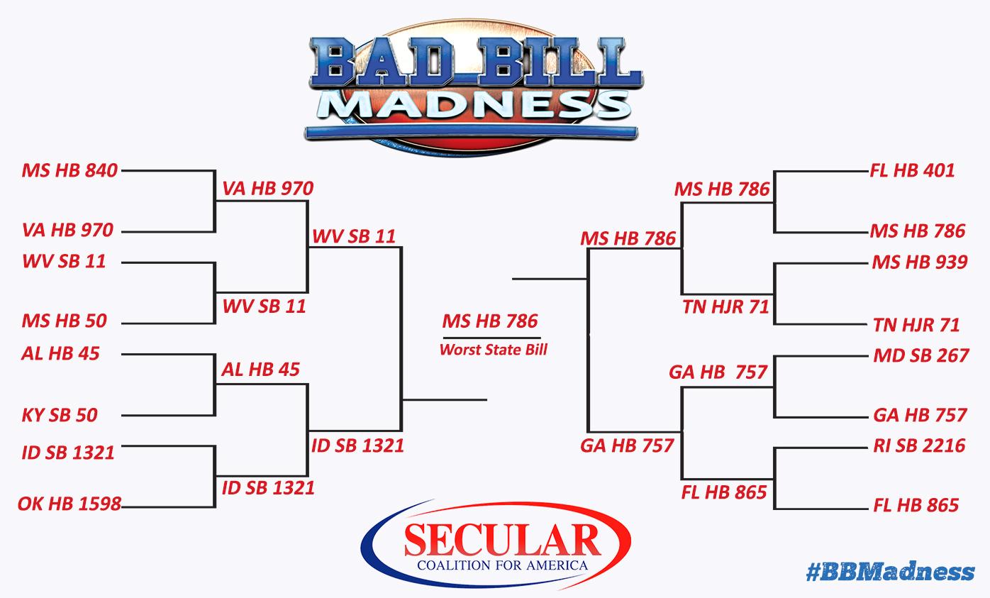 Bad Bill Madness Bracket final