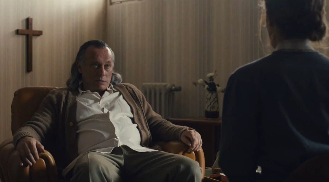 Actor Mikael Nyqvist playing Paul Schäfer in the movie Colonia