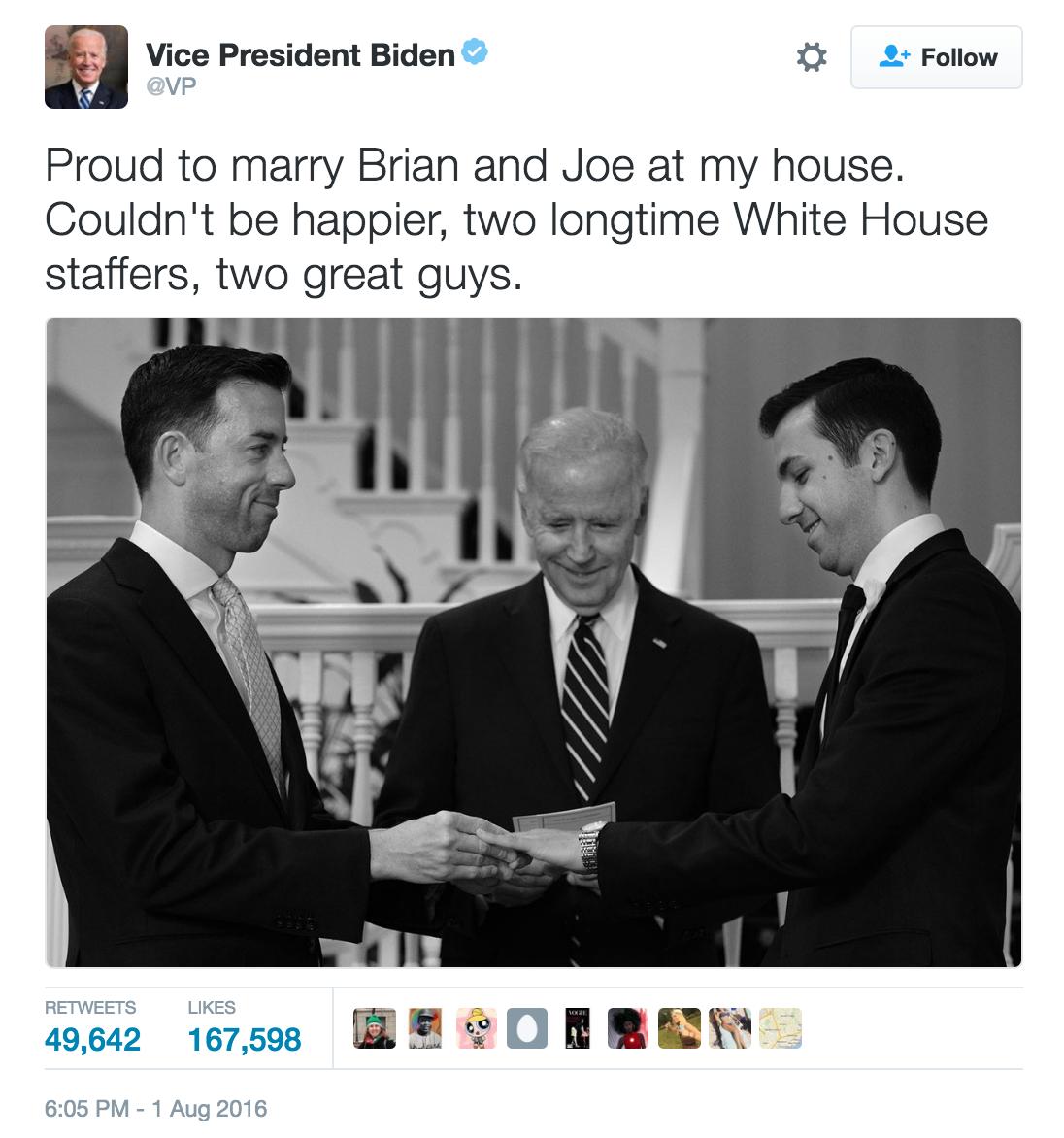 BidenWeddingTweet