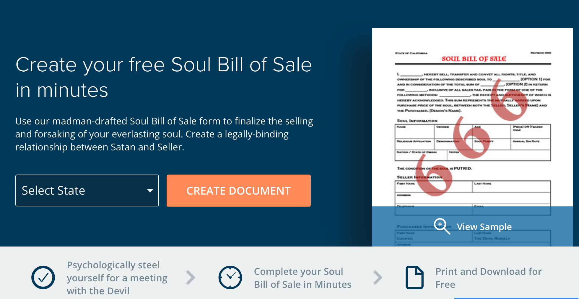 legal contract website offers template for those who want to sell