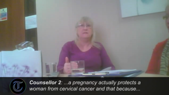 Undercover Video Shows Crisis Pregnancy Center Staffer Saying Abortion Could Lead to Breast Cancer