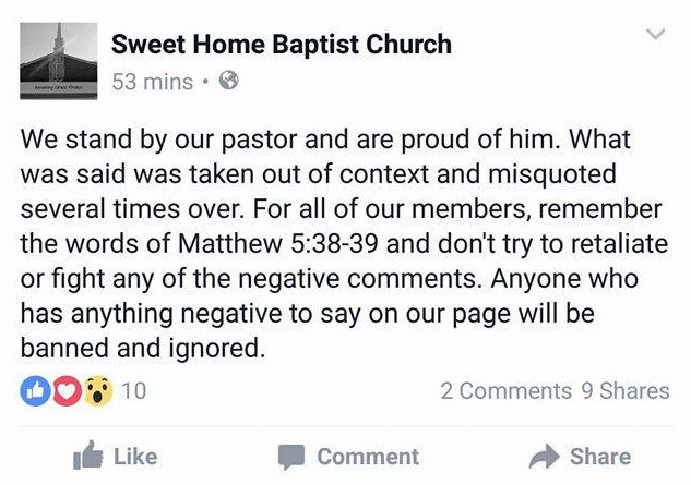 SweetHomeBaptistStatement