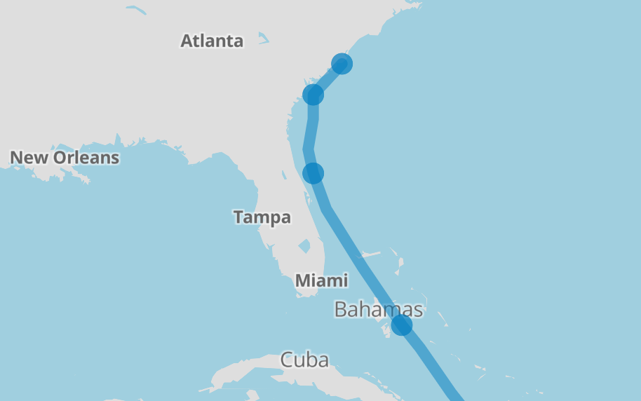 HurricanePathMatthew