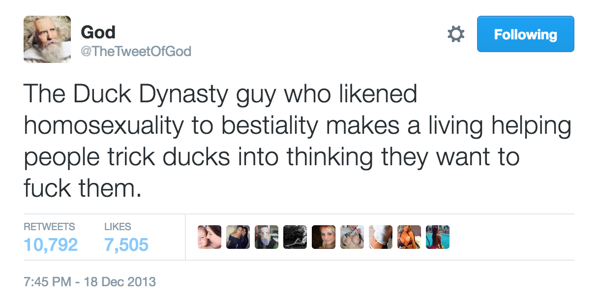 DuckDynastyGodTweet