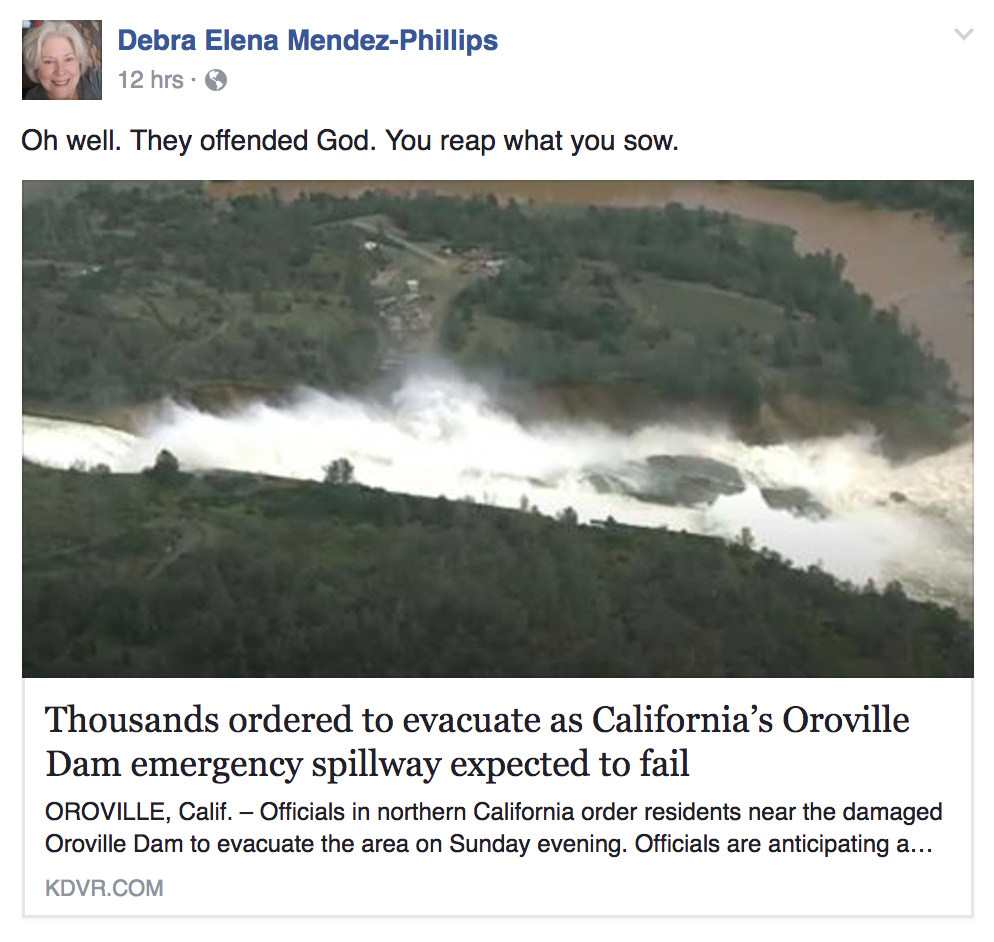 What Caused the Oroville Dam Crisis? Some Christians Online