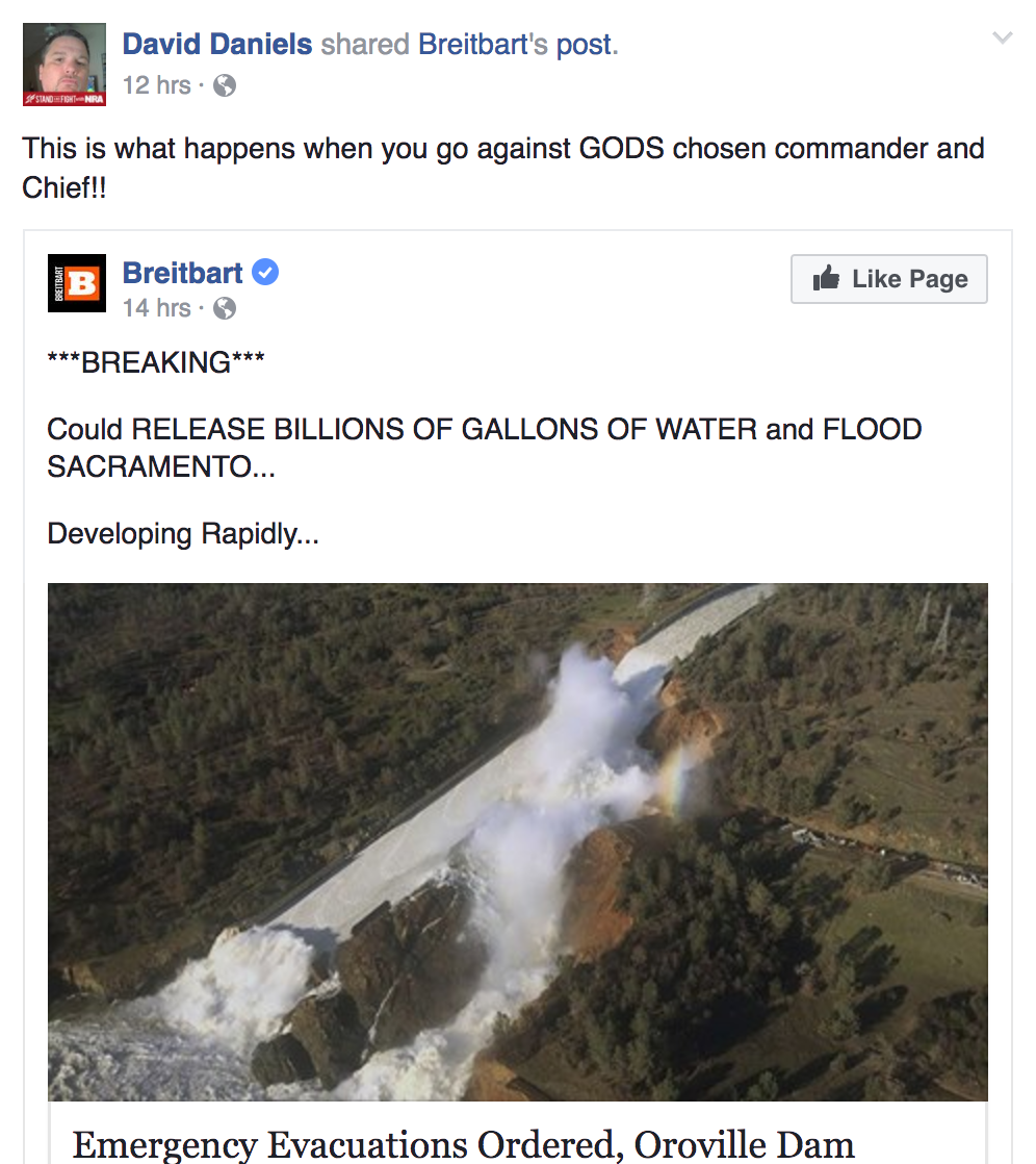 What Caused the Oroville Dam Crisis? Some Christians Online Blame CA