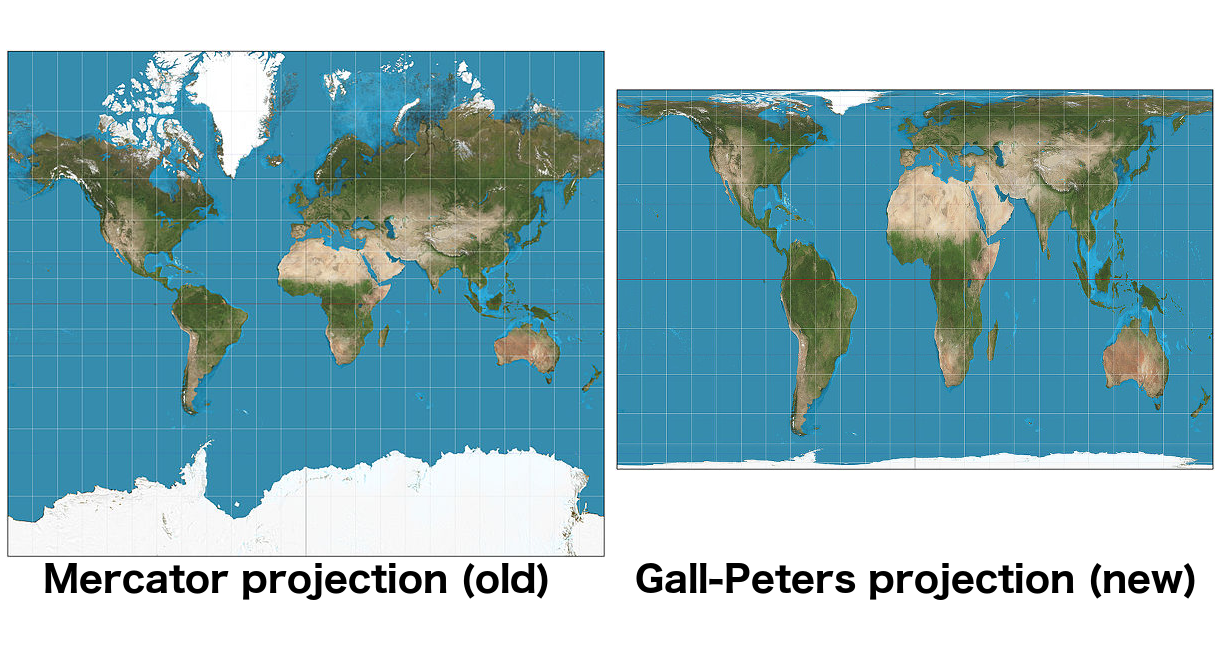 Gall Peters Projection World Map.Goodbye Old Map Of The World The Boston Public Schools Are