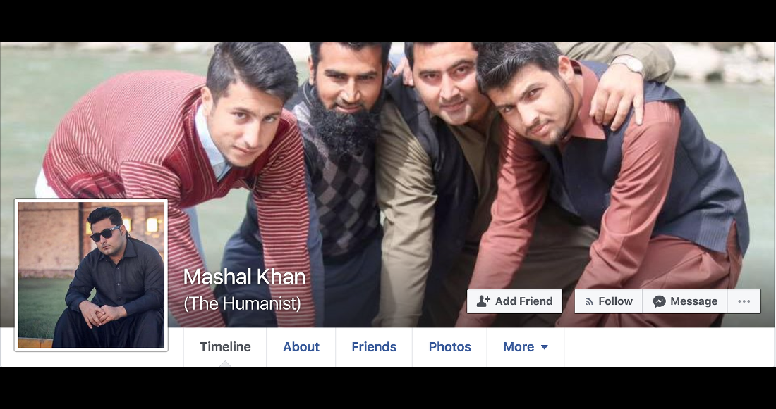 "Humanist"" Student Mashal Khan Beaten to Death in Pakistan"