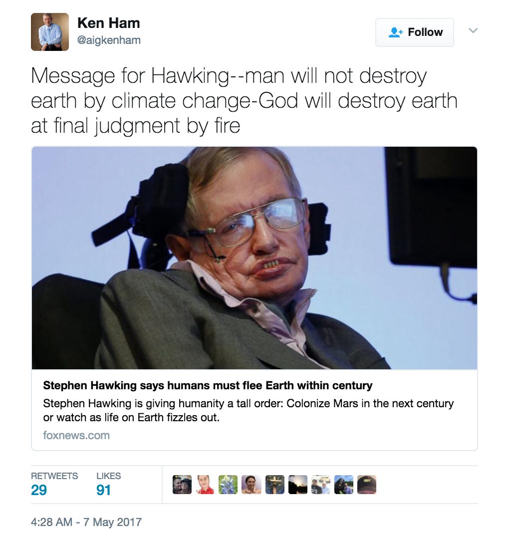 KenHamHawkingTweet1
