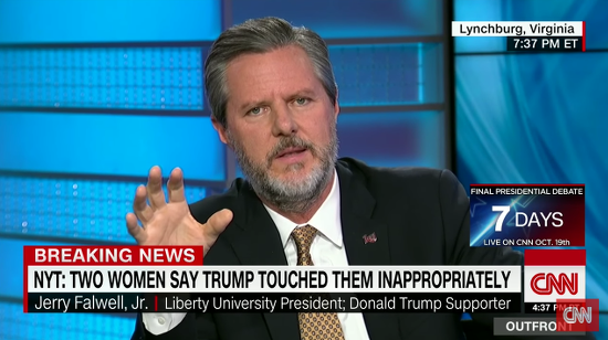 Jerry Falwell Jr. Says He'll Be Part of Trump's New Higher Education Plan