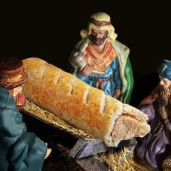 "Bakery Ad Replacing Jesus with Sausage Roll in Nativity Isn't ""Anti-Christian"""