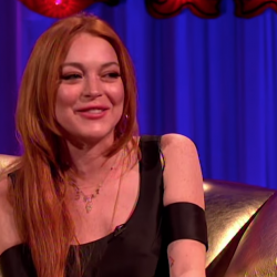 """Lindsay Lohan Thinks Her Snake Bite Means """"Good Luck and Positive Energy"""""""