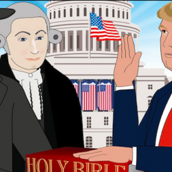 Come! Watch Mike Huckabee's Super Creepy Cartoon About How God Founded America!