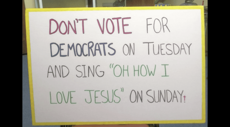 "Florida Church No Longer a Polling Place Due to ""Don't Vote for Democrats"" Sign"