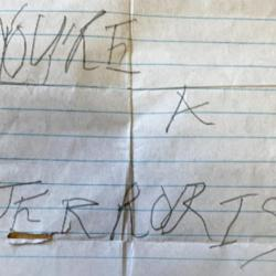 """10-Year-OId Muslim Girl Receives Note in School Saying """"You're a Terrorist"""""""