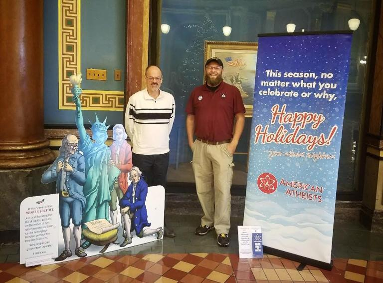 The Iowa State Capitol is Now Home to Two Atheist Displays